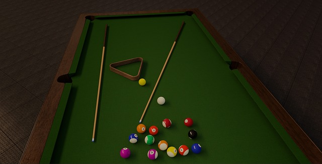 Snooker table with slate bed